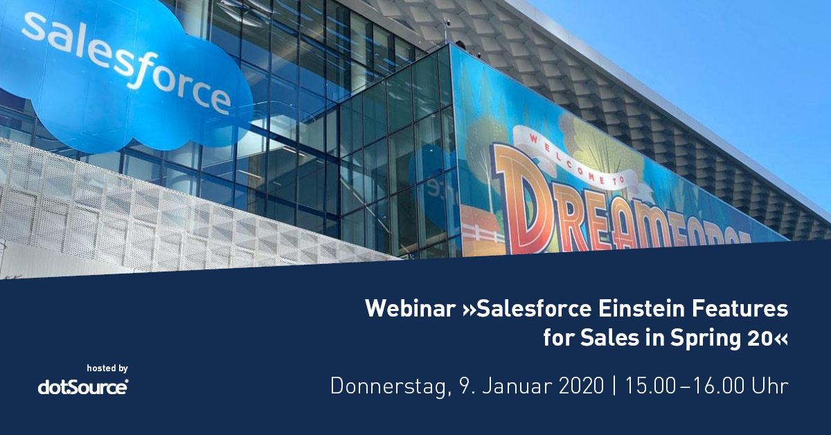 »Salesforce Einstein Features for Sales in Spring '20« [Webinar]