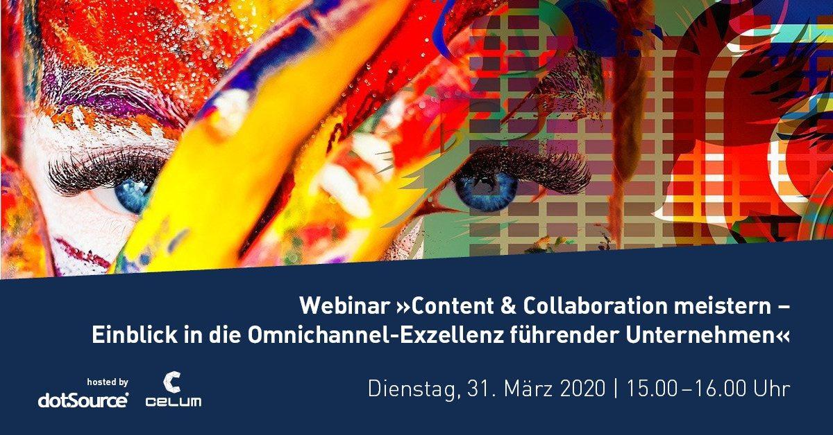 »Content & Collaboration meistern – Einblick in die Omnichannel-Exzellenz führender Unternehmen« [Last Call]