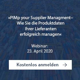 »PIMp your Supplier Management – Wie Sie die Produktdaten Ihrer Lieferanten erfolgreich managen«