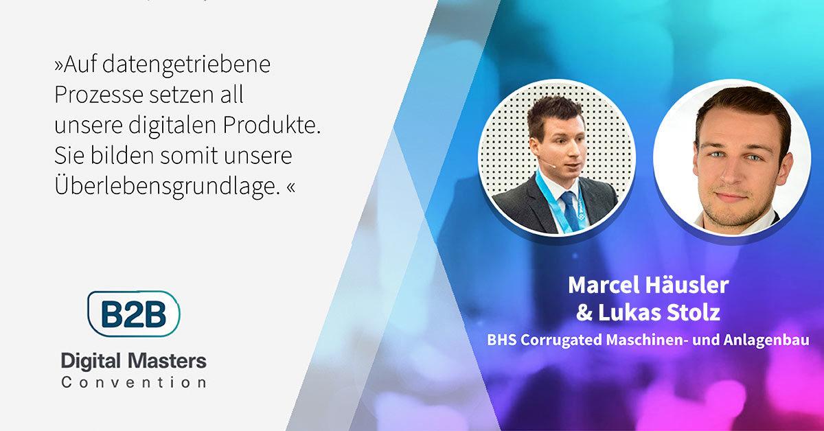 BHS im Rennen um die digitale Herrschaft in der Wellpappenindustrie – B2BDMC-Speaker Marcel Häusler & Lukas Stolz [Interview]