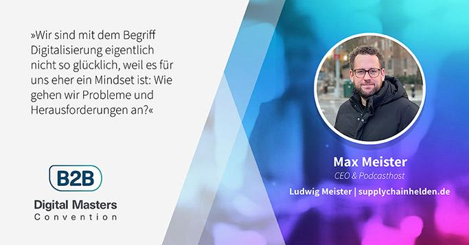 B2BDMC Speaker Max Meister