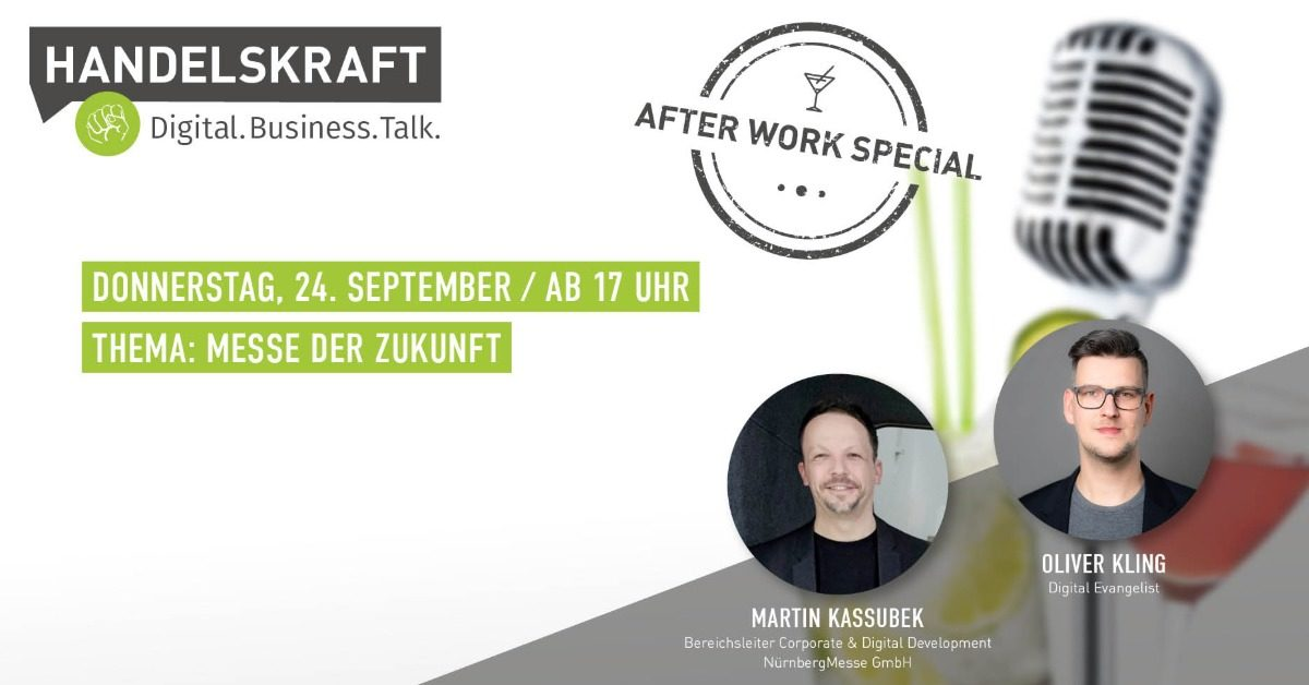 Digital. Business. Talk. – Afterwork Special #8 Messe der Zukunft