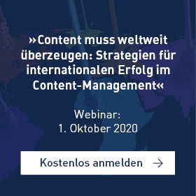 »Content muss weltweit überzeugen: Strategien für internationalen Erfolg im Content-Management«[Webinar]