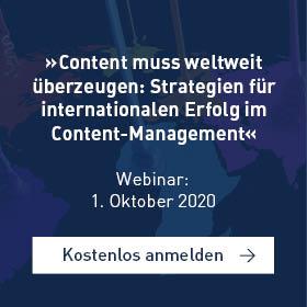 Webinar internationaler Erfolg im Content-Management