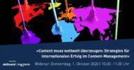 »Content muss weltweit überzeugen: Strategien für internationalen Erfolg im Content-Management« [Webinar]