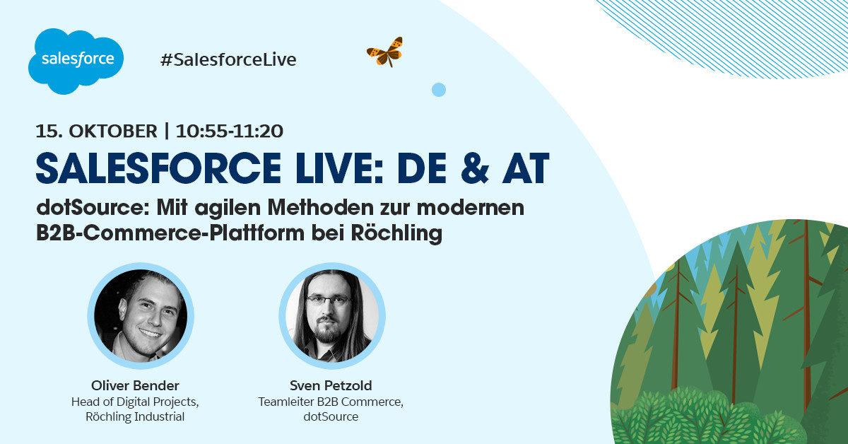 Agil zur modernen B2B-Commerce-Plattform: dotSource und Röchling auf der Salesforce Live