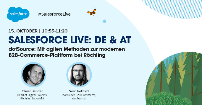 agil moderne b2b commerce plattform salesforce live