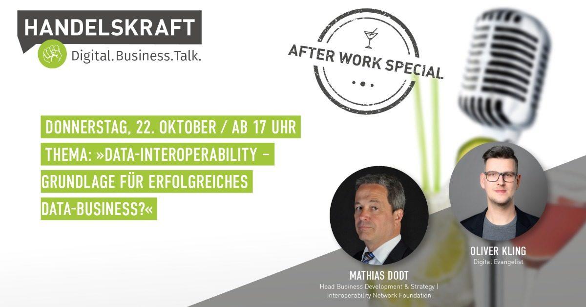 Data-Interoperability – Grundlage für erfolgreiches Data-Business? Mathias Dodt heute im Talk