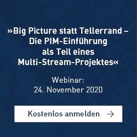 »Big Picture statt Tellerrand – Die PIM-Einführung als Teil eines Multi-Stream-Projektes«[Webinar]