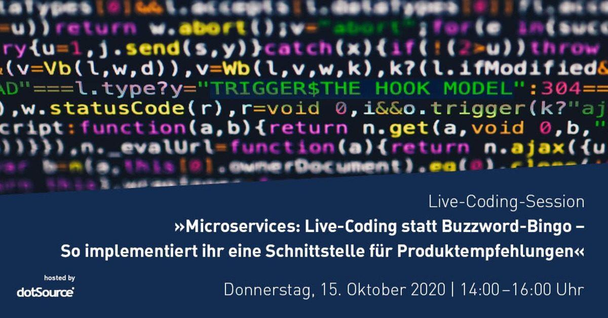 »Microservices: Live-Coding statt Buzzword-Bingo – So implementiert ihr eine Schnittstelle für Produktempfehlungen« [Webinar]