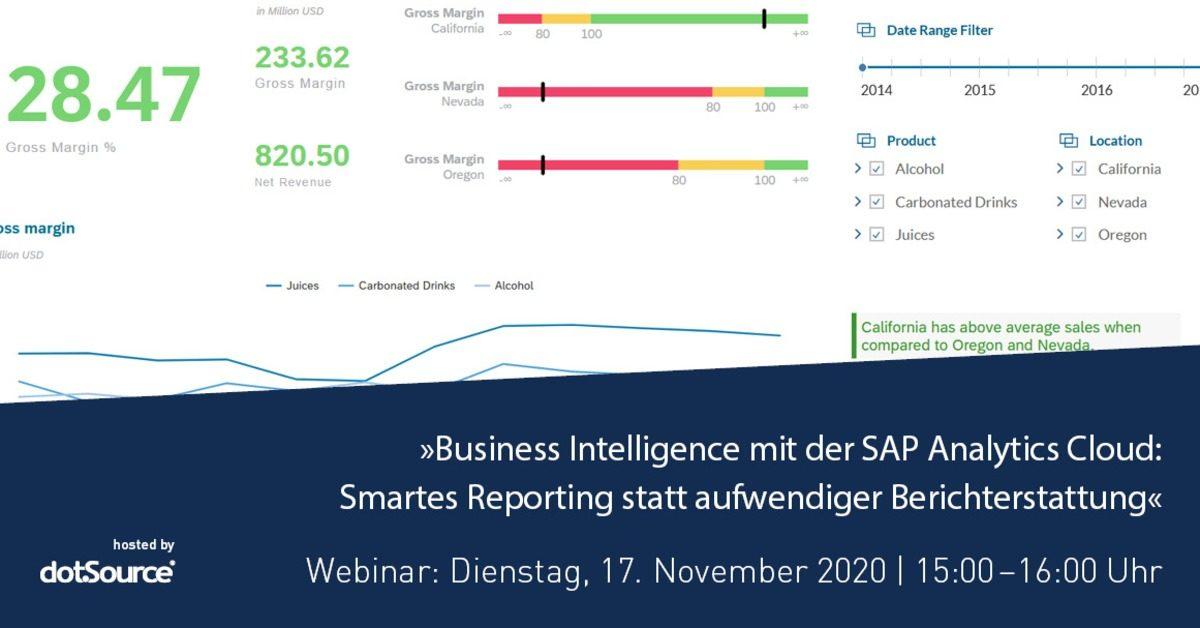 »Business Intelligence mit der SAP Analytics Cloud: Smartes Reporting statt aufwendiger Berichterstattung« [Webinar]