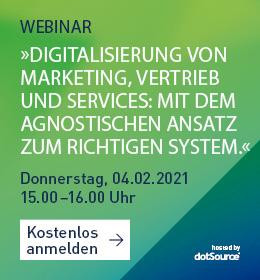 Digitalisierung Marketing Vertrieb Services Agnostischer Ansatz Webinar