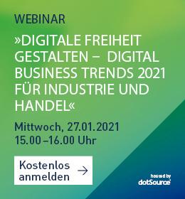 Digitale Freiheit Trends für Industrie und Handel 2021 Webinar