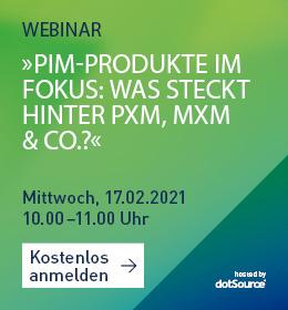 PIM Produkte PXM MXM BIM Webinar
