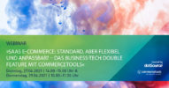 »SaaS E-Commerce: Standard, aber flexibel und anpassbar? – Das Business-Tech Double Feature mit commercetools« [Webinar]