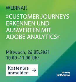 Customer Journeys mit Adobe Analytics im Webinar