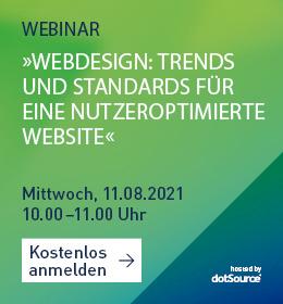 Webdesign Webinar Trends und Standards CTA